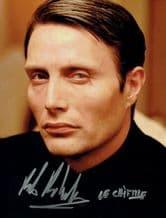 Mads Mikkelsen Autograph Signed Photo