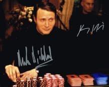 Mads Mikkelsen & Clemens Schick Autograph Signed Photo - Casino Royale