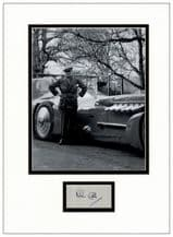 Malcolm Campbell Autograph Signed Display