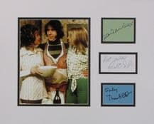 Man About The House Cast Autograph Signed Display