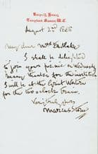 Marcus Stone Autograph Letter Signed - Charles Dickens