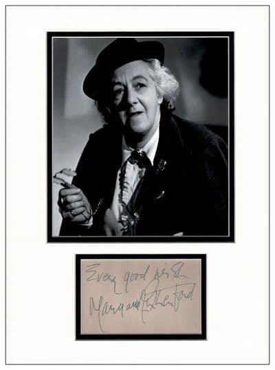 Margaret Rutherford Autograph Signed Display