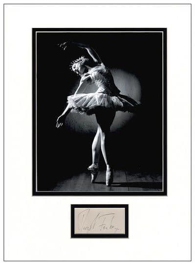 Margot Fonteyn Autograph Signed Display