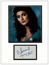 Marina Sirtis Autograph Display - Star Trek: The Next Generation