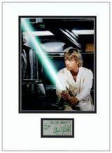 Mark Hamill Autograph Display - Star Wars
