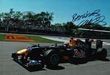 Mark Webber Autograph Signed Photo