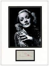 Marlene Dietrich Autograph Signed Display