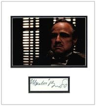 Marlon Brando Autograph Display - The Godfather