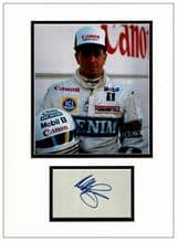 Martin Brundle Autograph Display