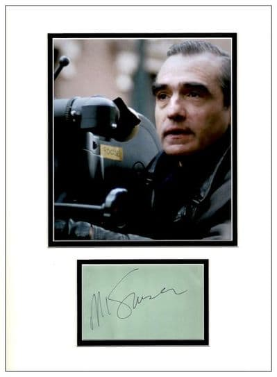 Martin Scorsese Autograph Signed Display