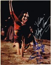 Martine Beswick & Aliza Gur Autograph Signed Photo