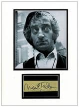 Marty Feldman Autograph Signed Display