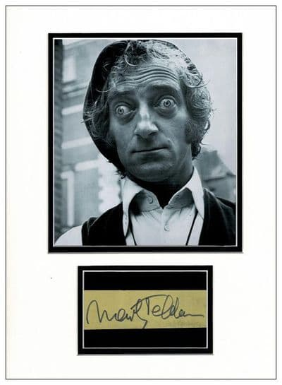 Marty Feldman Autograph Signed Display