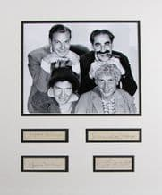 Marx Brothers Autograph Display - Groucho, Chico, Harpo and Zeppo