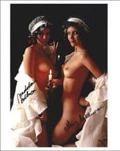 Mary and Madeleine Collinson Signed Photo - Twins of Evil