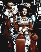 Mary & Madeleine Collinson Signed Photo - Hammer Horror