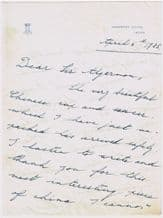 Mary, Princess Royal and Countess of Harewood Autograph Signed Letter