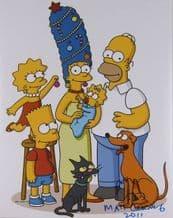 Matt Groening Autograph Signed Photo - The Simpsons