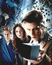 Matt Smith & Arthur Darvill Autograph Signed Photo - Dr Who