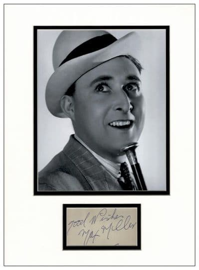 Max Miller Autograph Signed Display