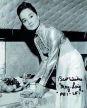 May Ling Autograph Photo - James Bond