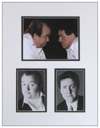Mel Smith & Griff Rhys Jones Autograph Signed Display