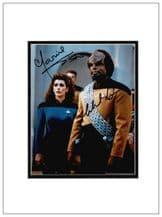 Michael Dorn and Marina Sirtis Signed Photo - Star Trek: The Next Generation