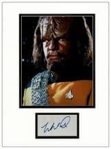 Michael Dorn Autograph Display - Star Trek: The Next Generation