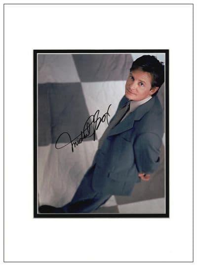 Michael J Fox Autograph Signed Photo