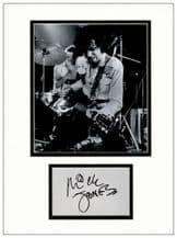 Mick Jones Autograph Signed Display - The Clash