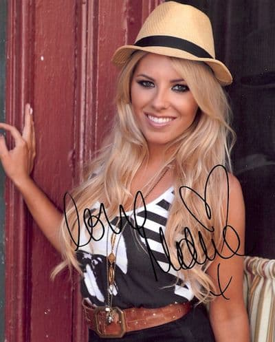 Mollie King Autograph Photo - The Saturdays