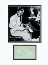 Nat King Cole Autograph Signed Display