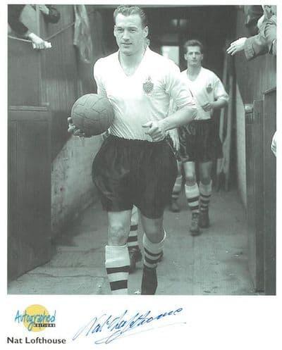 Nat Lofthouse Autograph Signed Photo - Bolton