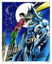 Neal Adams Signed Batman Art Print Plus Original Artwork
