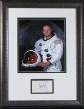 Neil Armstrong Autograph Display - Apollo 11