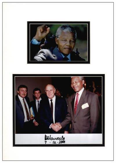 Nelson Mandela Autograph Signed Photo