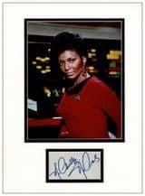 Nichelle Nichols Autograph Display - Star Trek