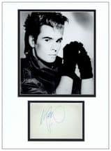 Nik Kershaw Autograph Signed Display