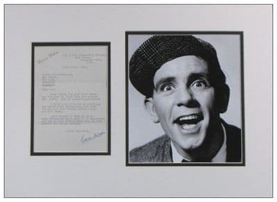 Norman Wisdom Authentic Signed Letter Display