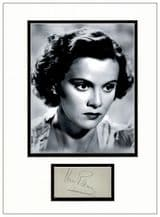 Nova Pilbeam Autograph Signed Display