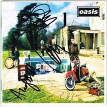 Oasis Autograph Signed CD Cover