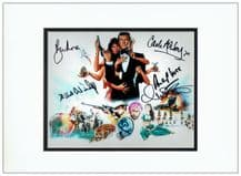 Octopussy Cast Autograph Signed Photo - Roger Moore