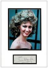Olivia Newton-John Autograph Display - Grease