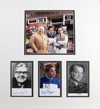 Open All Hours Cast Autograph Signed Display