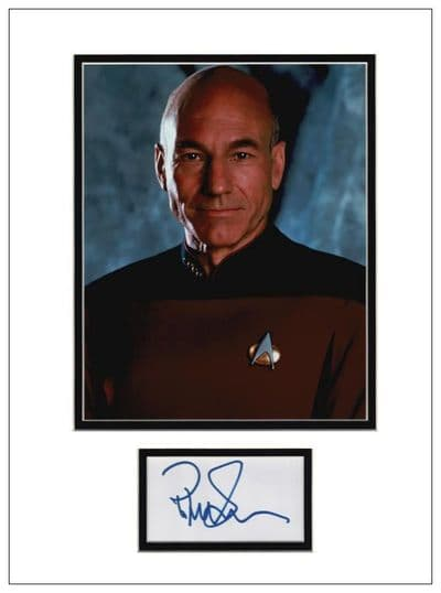 Patrick Stewart Autograph Signed - Star Trek