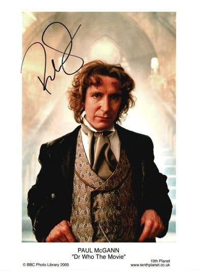 Paul McGann Autograph Photo - Dr Who