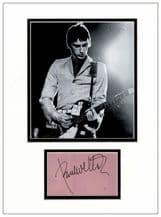 Paul Weller Autograph Display - The Jam