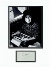 PD James Autograph Signed Display