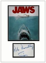 Peter Benchley Autograph Signed Display - Jaws