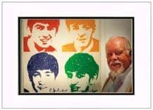Peter Blake Autograph Signed Photo - The Beatles